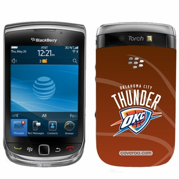 Oklahoma City Thunder BlackBerry&reg TORCH 9800 Full Color Design Coveroo - Click to enlarge
