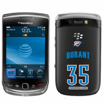 Oklahoma City Thunder BlackBerry&reg TORCH 9800 Kevin Durant Design Coveroo - Click to enlarge