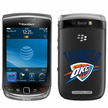 Oklahoma City Thunder BlackBerry&reg TORCH 9800 Logo Design Coveroo - Click to enlarge