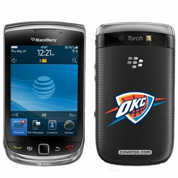 Oklahoma City Thunder BlackBerry&reg TORCH 9800 OKC Design Coveroo - Click to enlarge