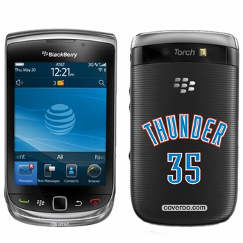 Oklahoma City Thunder BlackBerry&reg TORCH 9800 Thunder 35 Design Coveroo - Click to enlarge