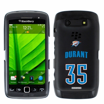 Oklahoma City Thunder Blackberry Torch 9850/9860 Hard Case with OKC Durant 35 Jersey Design - Click to enlarge