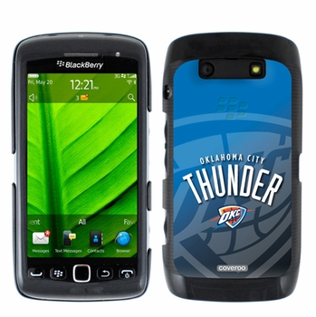 Oklahoma City Thunder Blackberry Torch 9850/9860 Hard Case with Oklahoma City Watermark Design - Click to enlarge
