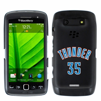 Oklahoma City Thunder Blackberry Torch 9850/9860 Hard Case with Thunder 35 Jersey Design - Click to enlarge