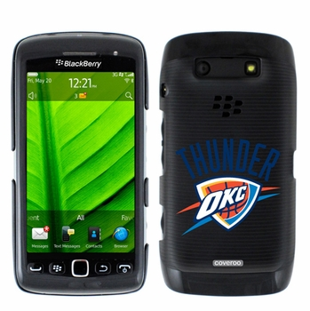 Oklahoma City Thunder Blackberry Torch 9850/9860 Hard Case with Thunder OKC Design - Click to enlarge