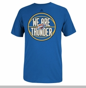 Oklahoma City Thunder Chanting Echo Adidas Tee-Blue