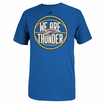 Oklahoma City Thunder Chanting Echo Adidas Tee-Blue - Click to enlarge