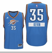 Oklahoma City Thunder Christmas Day Kevin Durant Swingman Jersey - Blue