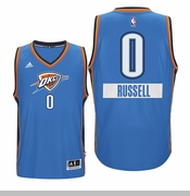 Oklahoma City Thunder Christmas Day Russell Westbrook Swingman Jersey - Blue