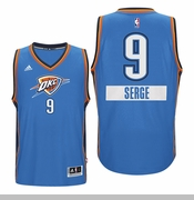 Oklahoma City Thunder Christmas Day Serge Ibaka Swingman Jersey - Blue