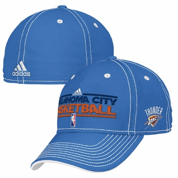 Oklahoma City Thunder Fit 10 Practice Cap - Blue - Click to enlarge