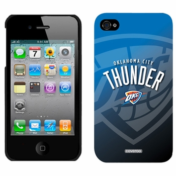 Oklahoma City Thunder iPhone 4/4S Thinshield Snap-On Case by Coveroo with Oklahoma City Watermark Design - Click to enlarge
