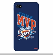 Oklahoma City Thunder Kevin Durant 2014 MVP Autograph iPhone 4  Case - Blue
