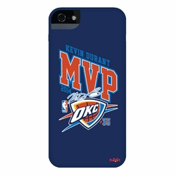 Oklahoma City Thunder Kevin Durant 2014 MVP Autograph iPhone 5  Case - Blue - Click to enlarge