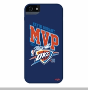 Oklahoma City Thunder Kevin Durant 2014 MVP Autograph iPhone 5  Case - Blue