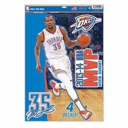 Oklahoma City Thunder Kevin Durant 2014 MVP Decal Set - Click to enlarge
