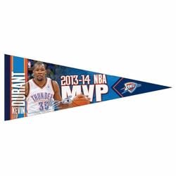 Oklahoma City Thunder Kevin Durant 2014 MVP Pennant - Click to enlarge