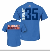 Oklahoma City Thunder Kevin Durant #35 Majestic Name & Number Tee - Royal