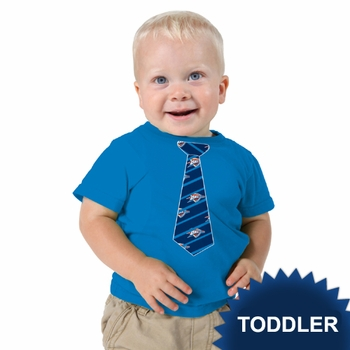 Oklahoma City Thunder Klutch Toddler Boys Tie Tee - Blue - Click to enlarge