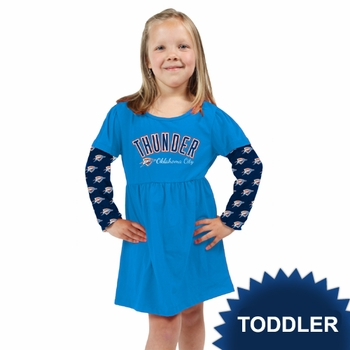 Oklahoma City Thunder Klutch Toddler Girls Cooldown Dress - Blue - Click to enlarge