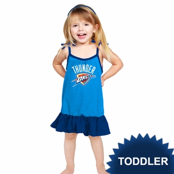 Oklahoma City Thunder Klutch Toddler Girls Strappy Dress - Blue - Click to enlarge