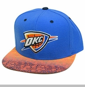 Oklahoma City Thunder Mitchell & Ness Court Vision Snapback - Blue