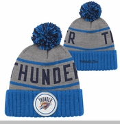 Oklahoma City Thunder Mitchell & Ness High 5 Cuffed Knit Hat - Grey