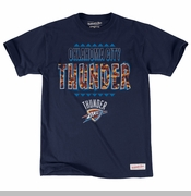 Oklahoma City Thunder Mitchell & Ness Run Out Clock Short Sleeve - Navy