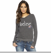 Oklahoma City Thunder PLW Women's Believe Logo Long Sleeve Triblend Tee - Charcoal