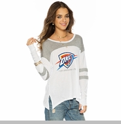 Oklahoma City Thunder PLW Women's 'I Am' Long Sleeve Tee - White/Heather