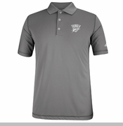 Oklahoma City Thunder adidas Pure Motion Solid Polo - Grey
