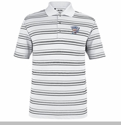 Oklahoma City Thunder Pure Motion Striped Polo - White