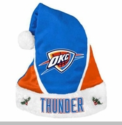 Oklahoma City Thunder Santa Hat