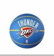 Oklahoma City Thunder Spalding Mini Rubber Basketball