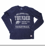 Oklahoma City Thunder Sportiqe Coachella Academy Long Sleeve Tee - Navy
