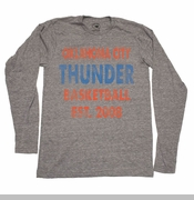 Oklahoma City Thunder Sportiqe Long Sleeve Comfy Tee - Grey