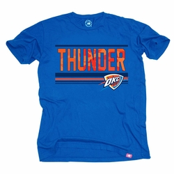 Oklahoma City Thunder Sportiqe Vintage Hunted Tee - Blue - Click to enlarge