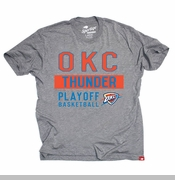 Oklahoma City Thunder Sportiqe Comfy Bay 2014 Playoff Tee - Grey