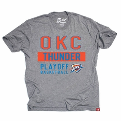 Oklahoma City Thunder Sportiqe Comfy Bay 2014 Playoff Tee - Grey - Click to enlarge