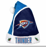 Oklahoma City Thunder Team Color Santa Hat - Blue