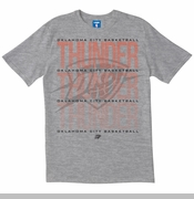 Oklahoma City Thunder UNK Cross Colors Pin Point Tee - Grey