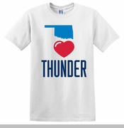 Oklahoma City Thunder We Heart Thunder Tee - White