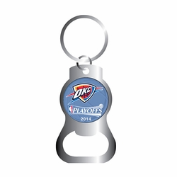 Oklahoma City Thunder Western Conference Finals Bottle Opener Key Ring - Click to enlarge