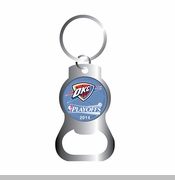 Oklahoma City Thunder Western Conference Finals Bottle Opener Key Ring
