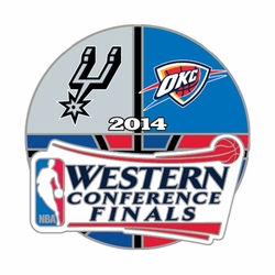 Oklahoma City Thunder Western Conference Finals Head to Head Pin - Click to enlarge