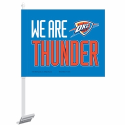Oklahoma City Thunder WinCraft We Are Thunder Car Flag - Click to enlarge