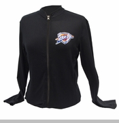Oklahoma City Thunder Women's Bling Logo Jacket - Black