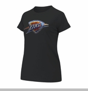 Oklahoma City Thunder Women's Bling Logo Tee - Black