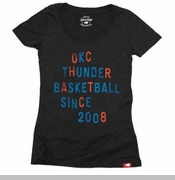 Oklahoma City Thunder Women's Comfy Scoop Tee - Black
