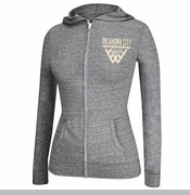 Oklahoma City Thunder Women's Full Zip Internet Hoodie - Grey